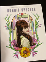 "Ronnie Spector ""R is for Ronnie"" 11x14"" 1960s, Ronettes, Girl Group, Rock and Roll, Archival Quality Print"