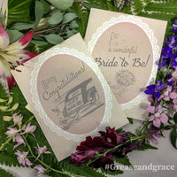 grease and grace, greeting cards, cards online, boutique shop, vintage shop, wedding card, vintage wedding, retro wedding, gatsby wedding, 1920s, 1930s, 1940s, 1960s, vintage card, retro card, bridal shower card, engagement card, wedding card