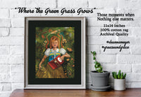 "Nature & Literary - ""Where the Green Grass Grows"" - 11x14"",  Literature, Books, Imagination, Dreamy, Book Lover,  Archival Quality Print"