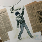 "JOHN LENNON ""L is for LENNON"" 11x14"" Rock and Roll, 1950s 1960s, Early Beatles, Rockabilly, Greaser, Vintage Style Archival Quality Print"