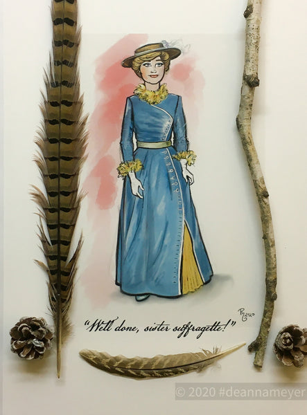 "Mrs. Banks - ""Sister Suffragette "" - Votes for Women!, Glynis Johns, Mary Poppins, 11x17"" Archival Quality Fine Art Print"