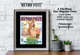 Retro Fest Pinup and Tiki Man laughing slyly fine art print