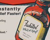 fukitol, grease and grace, poster, humorous, funny, sarcasm, vintage advertisement, old advertisement, retro, vintage, vintage inspired, pharmaceutical, fuck it, wall art, art, poster art, dorm art, fine art print, art print, gift shop, funny gift, 1950s, mid century modern, rockabilly, vintage style