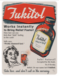 Fuckitol, a humorous poster about Not Giving a Fuck. Funny old fashioned advertisement.