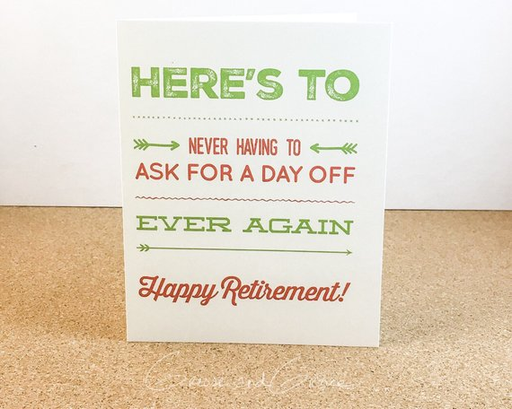 grease and grace, retirement, retirement card, coworker card, friend card, greeting card, card shop, gift shop, cards online