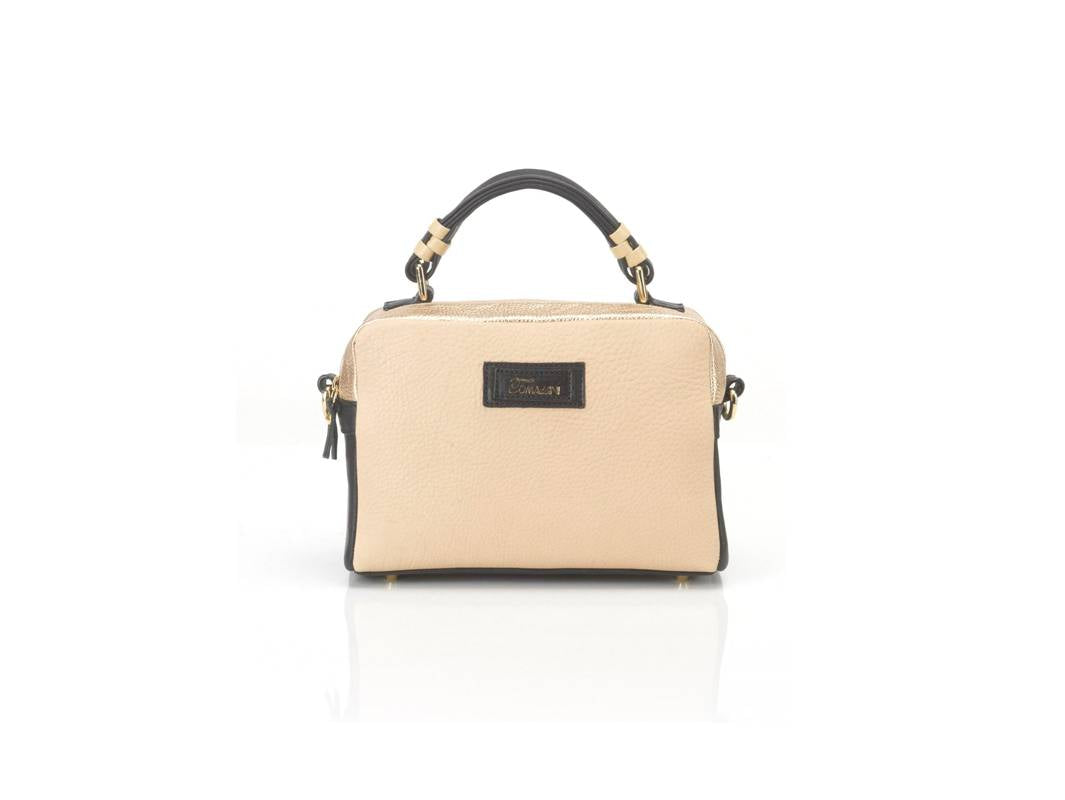 borsa in pelle GRACE beige davanti