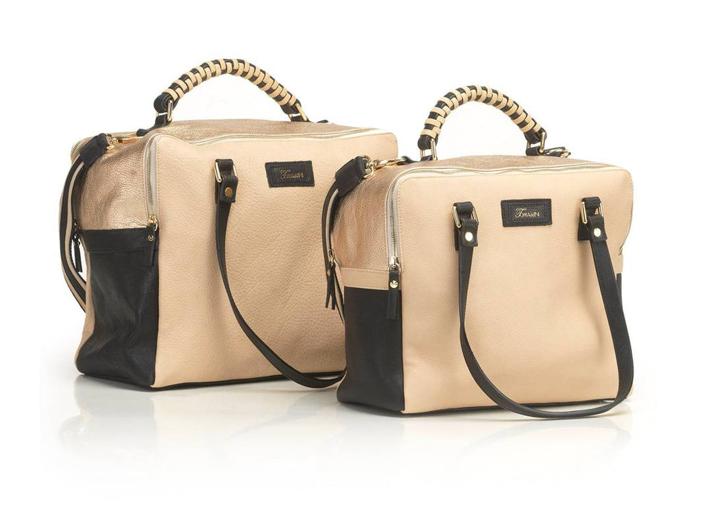 borsa in pelle MARY beige