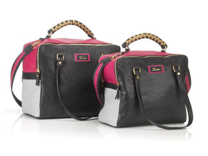 borsa in pelle MARY fuxia medium