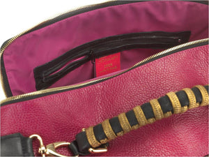 borsa in pelle MARY fuxia medium interno 2