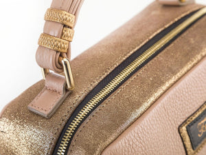 Borsa in pelle Grace creta zip
