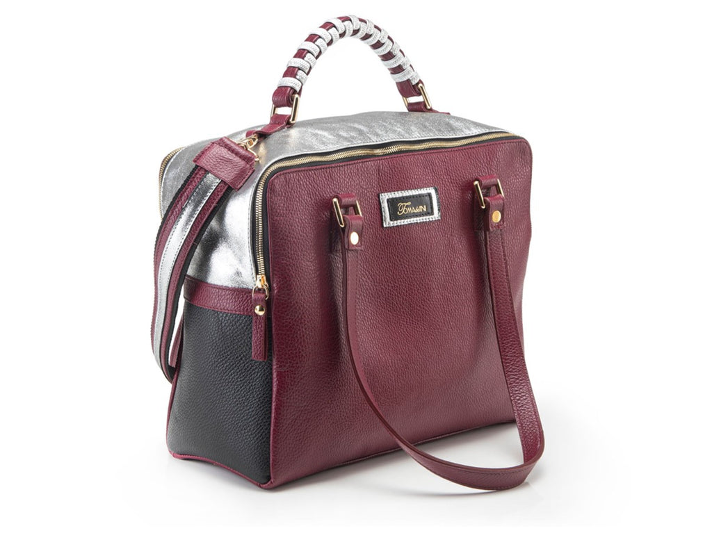 Borsa in pelle Mary bordeaux
