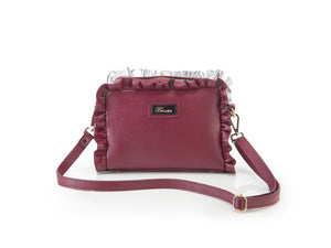 Borsa in pelle MATILDE bordeaux