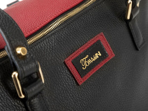 Borsa in pelle Mary rossa logo