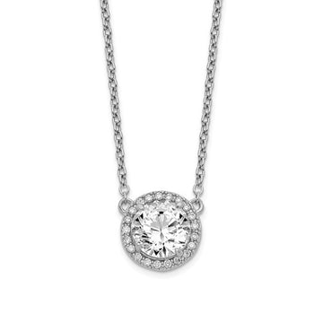 Sterling Silver CZ Round Halo