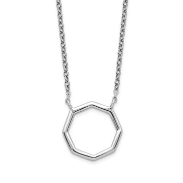 Sterling Silver Octagon Necklace
