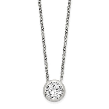 Sterling Silver 8mm CZ Necklace