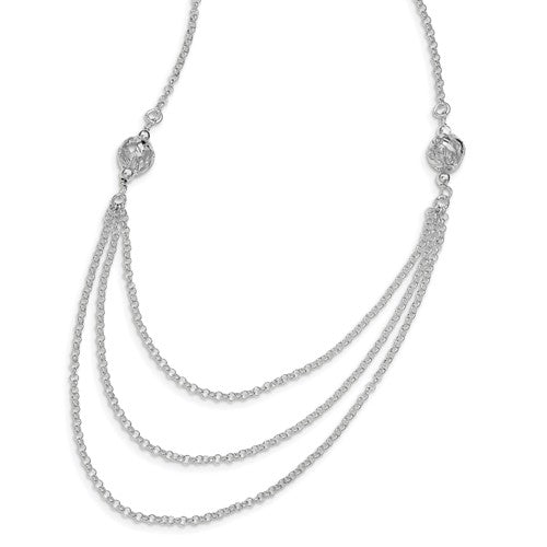 Sterling Silver Layered Chain Necklace