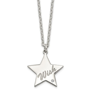 Sterling Silver Wish on a Star Necklace