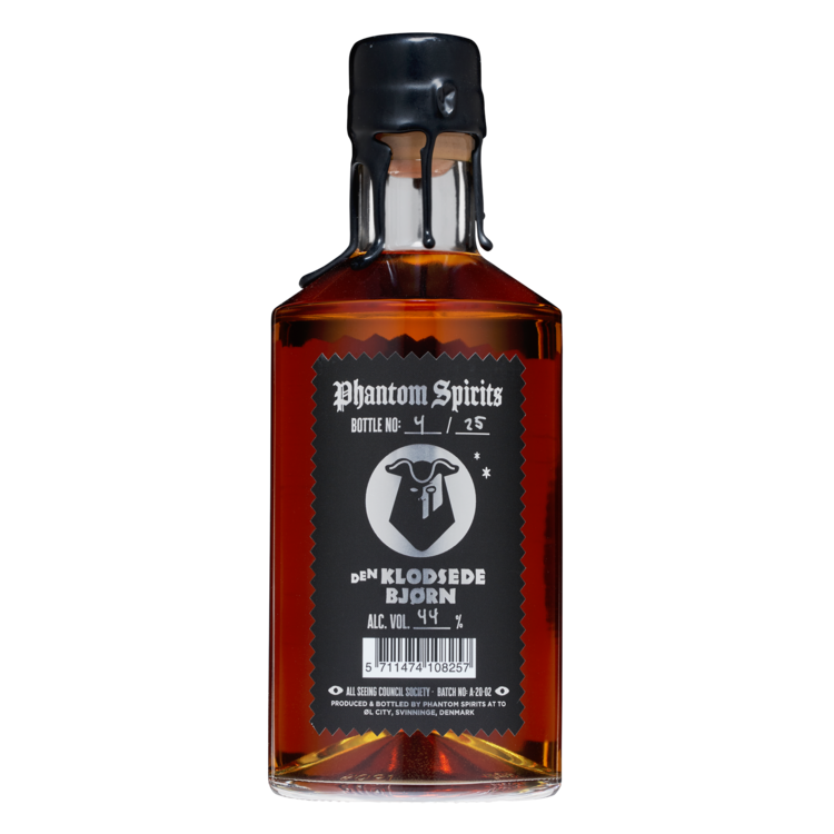 Phantom Spirits x Den Klodsede Bjørn - Absinthe Barrel Aged Peated Malt Vodka - 44% 500ml