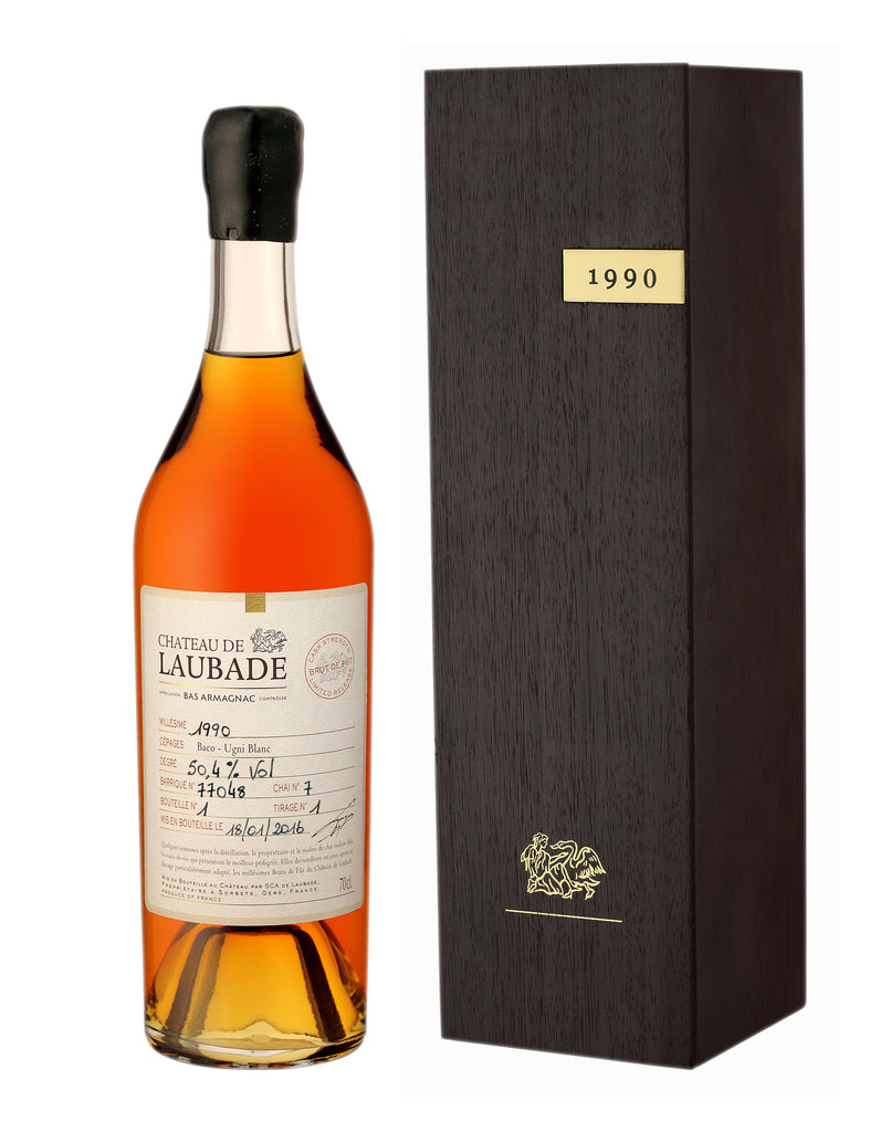 Chateau de Laubade Vintage 1990 Cask Strength Bas Armagnac 50.5% 700ML - Mind Spirits & Co.
