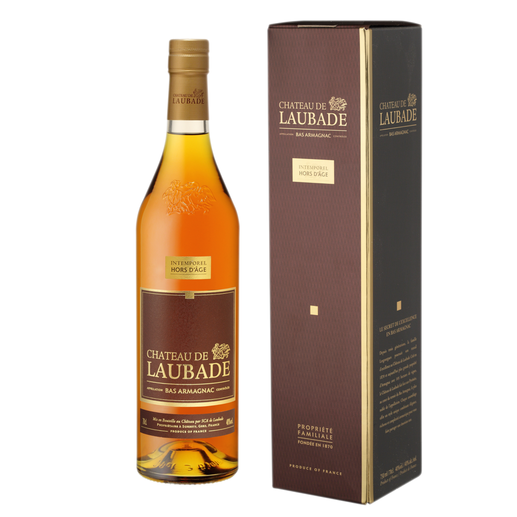 Chateau de Laubade Bas Armagnac Hors d'âge 12 years old 40% 700ML - Mind Spirits & Co.