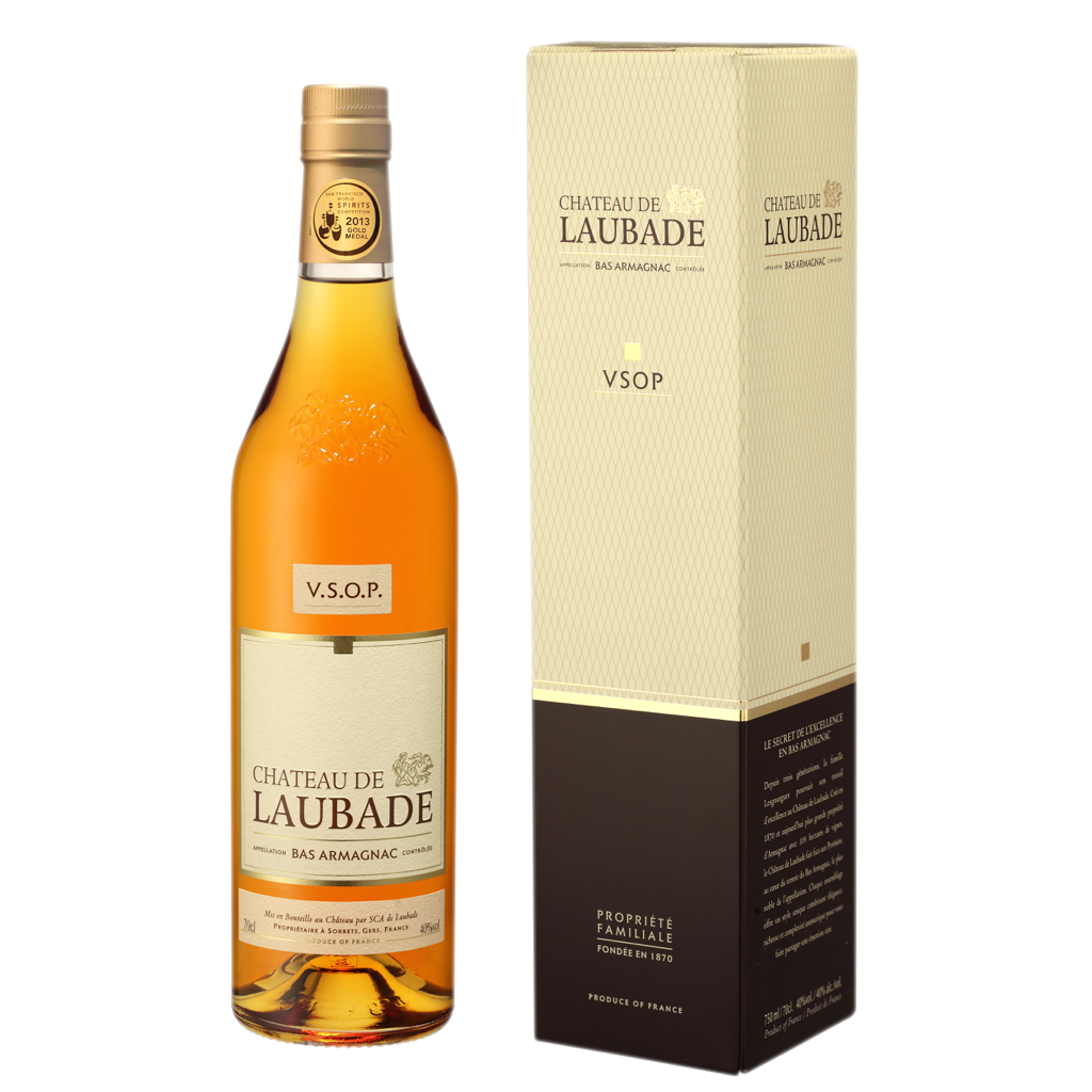 Chateau de Laubade Bas Armagnac  VSOP 6 years old 40% 700ML