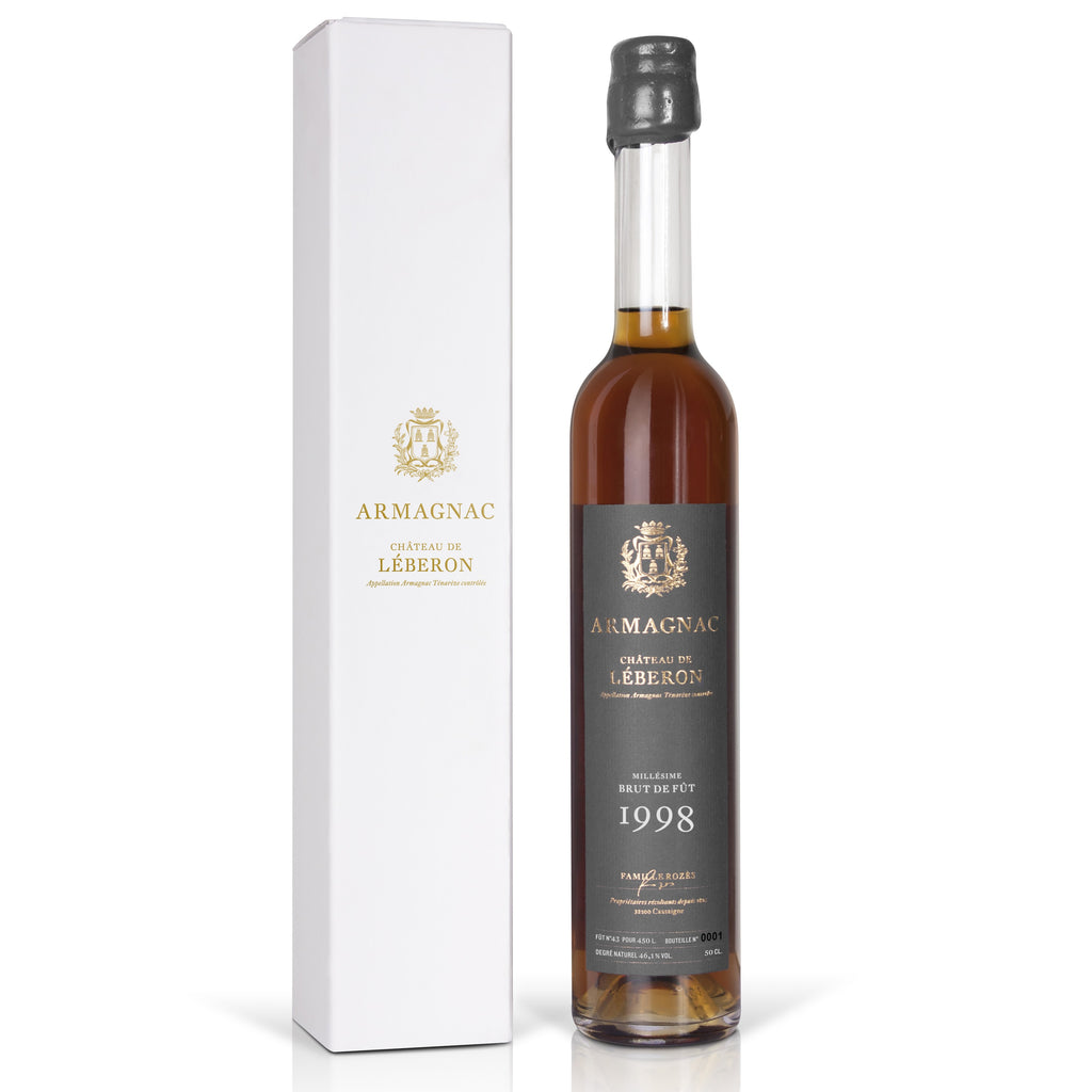 Chateau Léberon Armagnac Tenareze 1998 48% 500ML - Mind Spirits & Co.