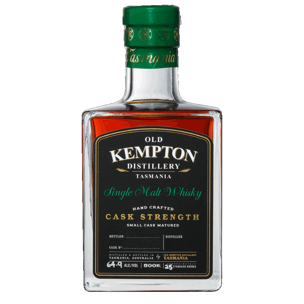 Old Kempton Tasmanian Sherry Cask Strength Whisky 60.9% 500ML