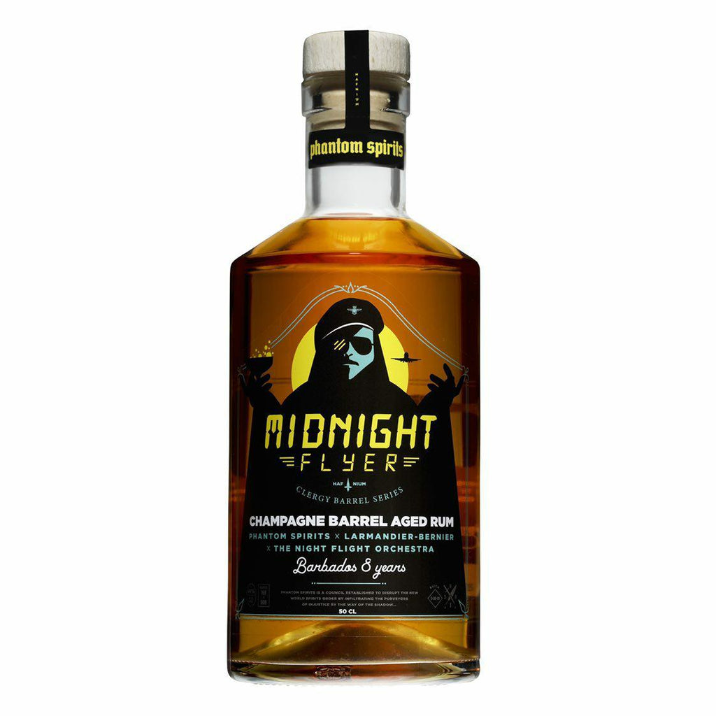 Phantom Spirits x Larmandier-Bernier x The Night Flight Orchestra - Midnight flyer - Barbados 8yo 44 % 500ml