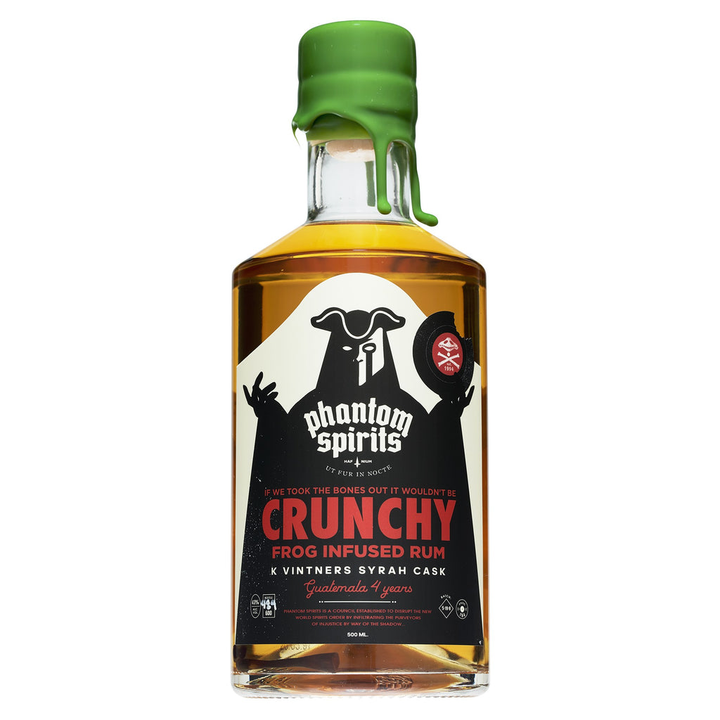 Phantom Spirits x Crunchy Frog - K Vintners Syrah Cask - FROG INFUSED - Guatemala 4yo - 43 % 500ml - Mind Spirits & Co.