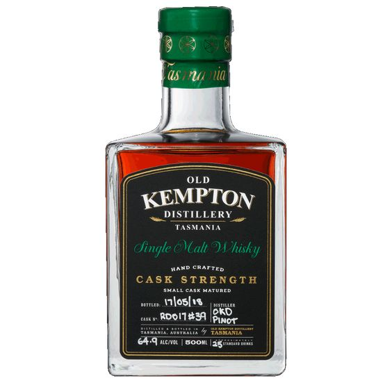 Old Kempton Tasmanian Pinot Cask Strength Whisky 64.9% 500ML