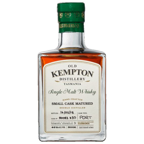 Old Kempton Tasmanian Port Cask Matured Whisky 46% 500ML