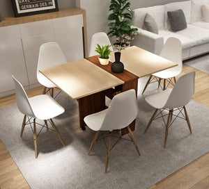 Pengu Space Saving Folding Dining Table ( Chairs not included ) also available on Amazon India