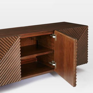 Pengu Designer TV / Entertainment Unit - MC-01-Walnut - Also available on Amazon India