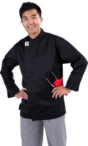 GC-Modern Black Long Sleeve Chef Jacket