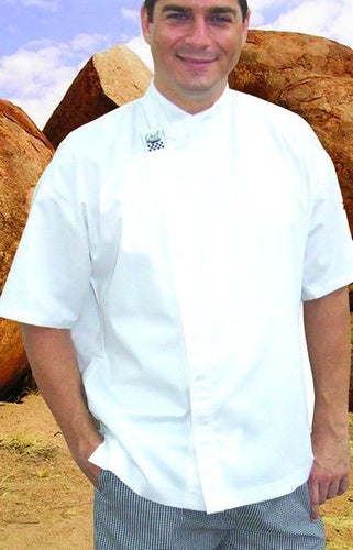 CR - Modern White Short Sleeve Chef Jacket - Global Chef