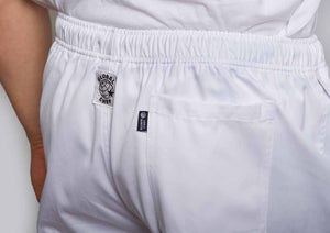 Rear White chef pants