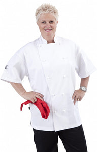 CR - Classic White Short Sleeve Chef Jacket - Global Chef