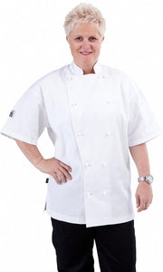 White Short Sleeve Traditional Chef Jacket