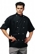Load image into Gallery viewer, Black Coloured Short Sleeve Chef Jacket