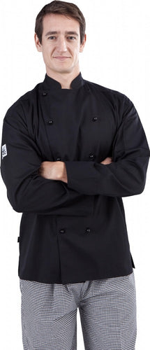 CR - Classic Black Long Sleeve Chef Jacket - Global Chef