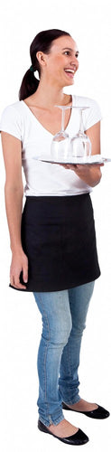 Short Black Waist 1/4 Apron (Pocket) - Global Chef