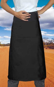 Black Long Waiters 3/4 Apron (Pocket)