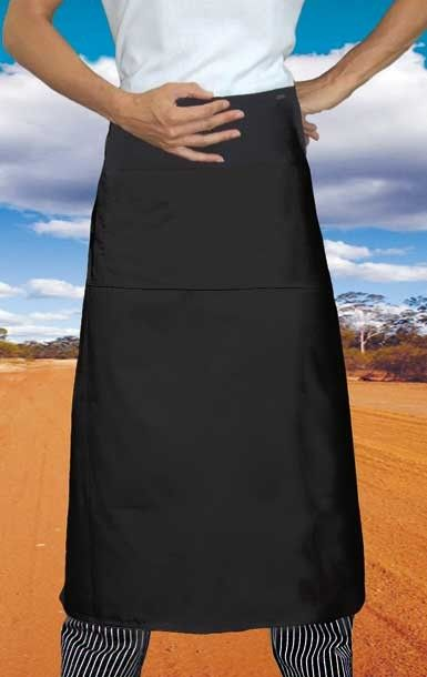 Black Long Waiters 3/4 Apron (Pocket) - Global Chef
