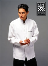 Modern Style Jacket Long Sleeve (Black Trim) - Global Chef