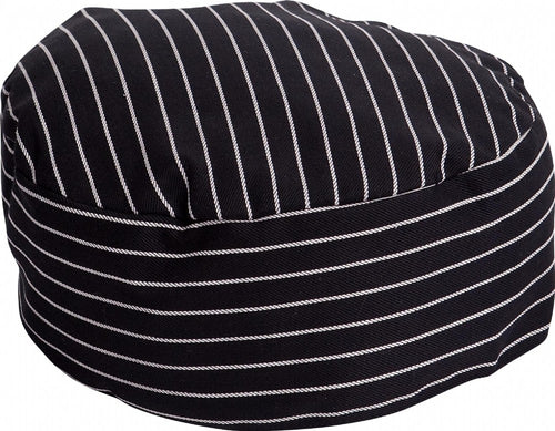 Black & White Pin Stripe Chef Hat - Global Chef