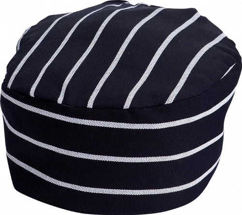 Navy & White Stripe Chef Hat - Global Chef