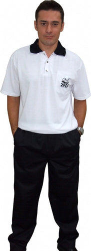 CR White Polo Shirt (Embroidered) - Global Chef