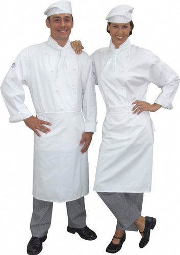 Full Chef Uniform jacket and Pants, apron, hat and scarf