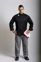 Load image into Gallery viewer, CR - Modern Black Long Sleeve Chef Jacket - Global Chef
